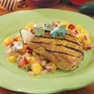 Pork Chops with Mango Relish Recipe