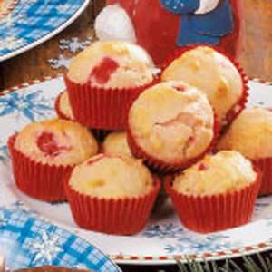 Cherry Vanilla Mini Muffins Recipe