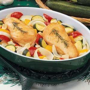 Rosemary-Garlic Chicken and Veggies Recipe
