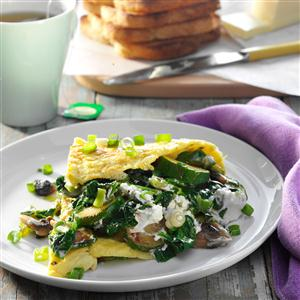 Veggie Omelet with Goat Cheese Recipe