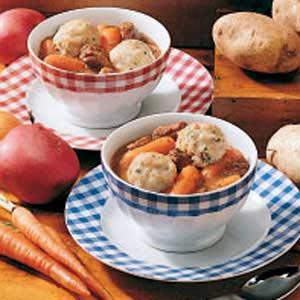 Beef Stew with Potato Dumplings Recipe