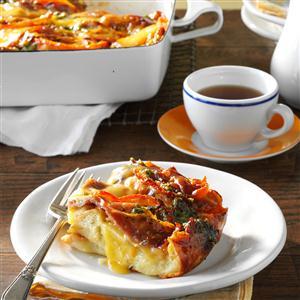 Prosciutto-Pesto Breakfast Strata Recipe