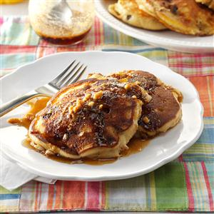 Campfire Pancakes with Peanut Maple Syrup Recipe