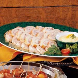 Chicken Ham Pinwheels Recipe