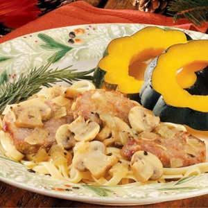 Mushroom Pork Scallopini Recipe