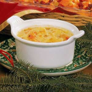 Swiss-Topped Cauliflower Soup Recipe