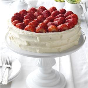 Strawberry Walnut Torte Recipe