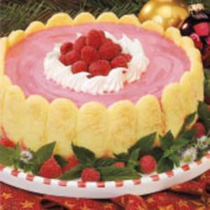 Red Raspberry Mousse Dessert
