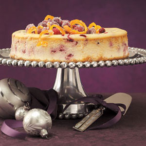Citrus Cranberry Cheesecake