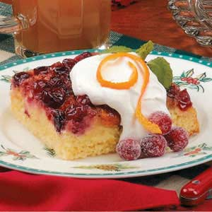 Orange-Cranberry Upside-Down Cake Recipe