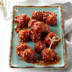 Barbecue Glazed Meatballs Recipe