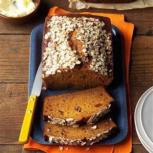 New England Pumpkin-Walnut Bread Recipe