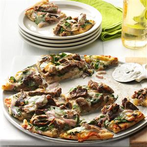 Garlic & Herb Steak Pizza Recipe
