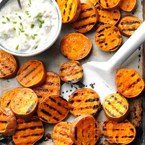 Grilled Sweet Potatoes with Gorgonzola Spread Recipe