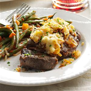 Hash Brown-Topped Steak Recipe