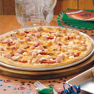Deluxe Turkey Club Pizza Recipe