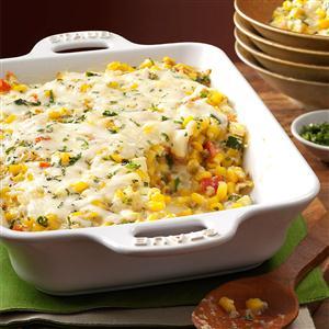 Basil Corn & Tomato Bake Recipe