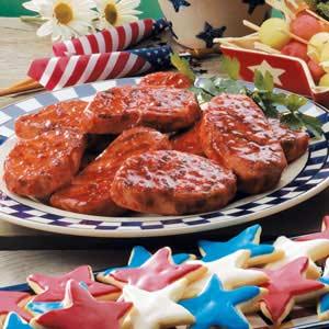 Sweet 'n' Spicy Grilled Pork Chops Recipe