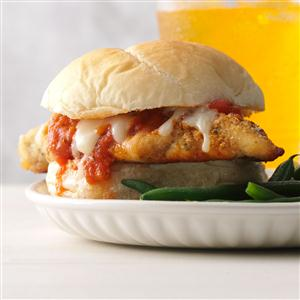 Weeknight Chicken Mozzarella Sandwiches Recipe