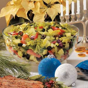 Festive Tossed Salad with Lemon Dressing Recipe