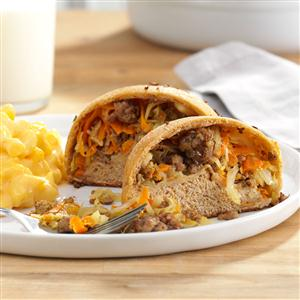 Hearty Beef & Cabbage Pockets Recipe