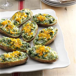 Cheddar & Spinach Twice-Baked Potatoes Recipe