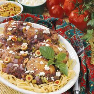Mediterranean Chicken Fettuccine Recipe