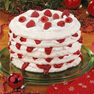 Raspberry-Filled Meringue Torte Recipe