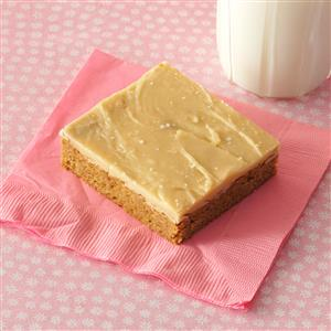Spice Cake Bars with Salted Caramel Icing Recipe