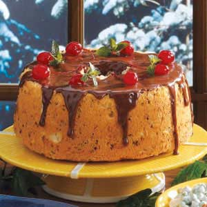 Chocolate cherry angel cake recipe taste of home chocolate cherry angel cake recipe forumfinder Image collections