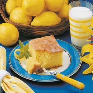 Glazed Lemon Cake Recipe