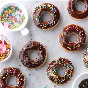 Chocolate-Glazed Doughnut Cookies Recipe