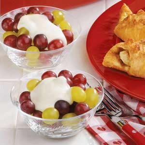 Cream-Topped Grapes Recipe