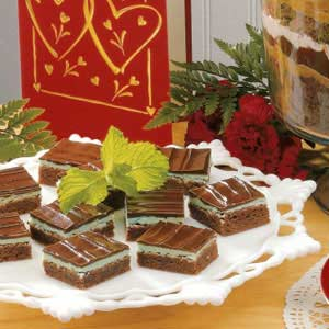 Glazed Mint Brownies Recipe