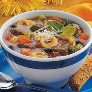 Beef 'n' Bean Tortellini Soup Recipe