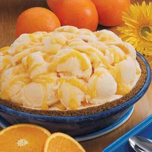 Orange-Swirl Yogurt Pie Recipe