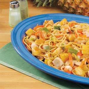 Pineapple Chicken Lo Mein Recipe