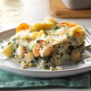White Seafood Lasagna Recipe