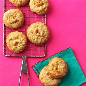 Salted Toffee Cashew Cookies Recipe