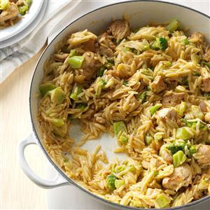Cheesy Chicken & Broccoli Orzo Recipe
