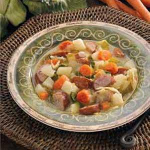 Kielbasa Cabbage Soup