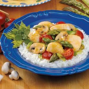 Scallops and Asparagus Stir-Fry Recipe