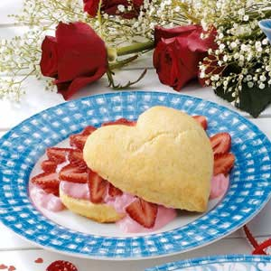 Valentine Strawberry Shortcake Recipe
