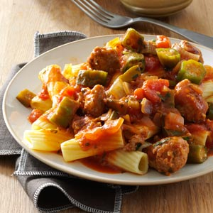 Creole Sausage Pasta Recipe