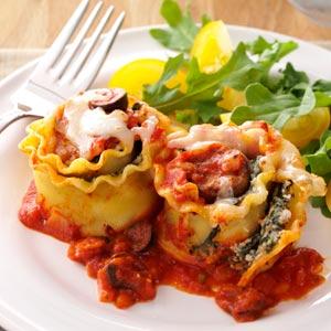 Italian Sausage Lasagna Rolls Recipe