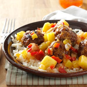 Sweet-Spicy Asian Meatballs Recipe