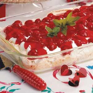 Sweet Cherry Meringue Dessert