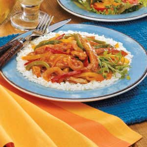 Pork with Three Peppers Recipe