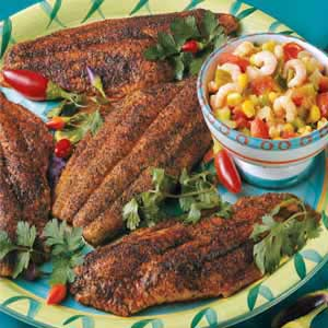 Catfish with Shrimp Salsa Recipe
