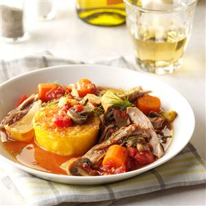 Italian-Style Turkey with Polenta Recipe